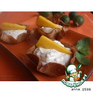 Тарталетки с творожно-фруктовым муссом