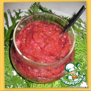 Мусс сливово-яблочный с коньяком и грецкими орехами