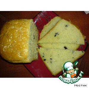 Хлеб с маслинами и маринованным перцем