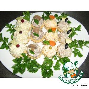 """Тарталетки """"Закусочное мясное ассорти"""""""