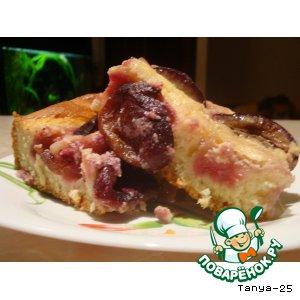 Баварский пирог со сливами