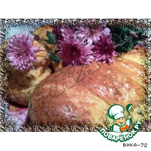 Тыквенная булка с сыром и грибами