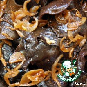 Закуска из черных грибов