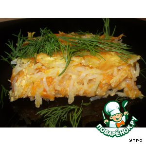 Тыквенно-картофельная запеканка с сельдереем