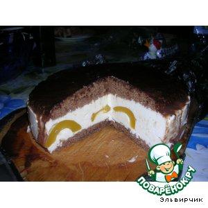 """Торт """"Сливочный с персиками"""""""