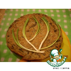 Деревенский картофельный пирог с грибами