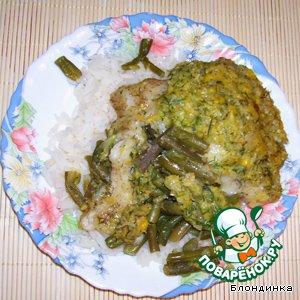 Рыба, запеченая  под кукурузным соусом