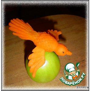 Птичка из моркови