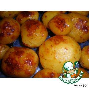 Картофель, запеченный с травами и медом