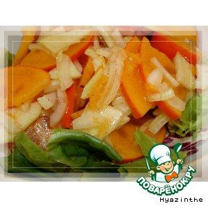 Салат из хурмы с луком