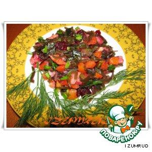Винегрет с морской капустой