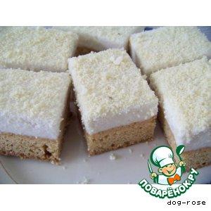 Творожно-кокосовое пирожное