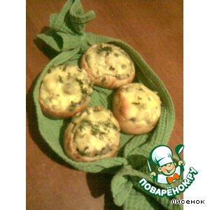 Закусочные булочки с грибным салатом