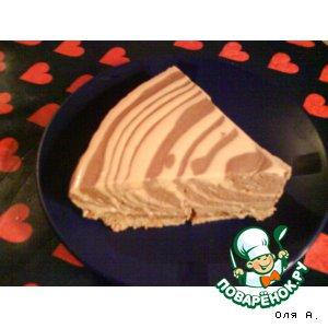 """Творожный тортик """"Встречаем год Тигра"""""""