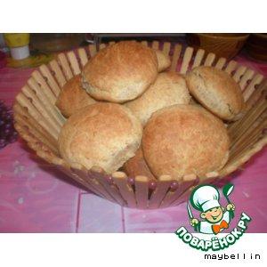 Детские отрубные булочки без яиц и дрожжей