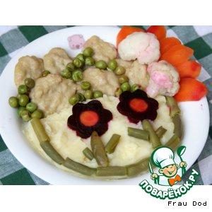 """""""Морские"""" тефтели с овощами"""