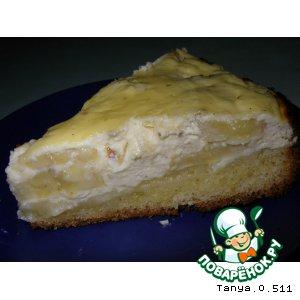 Творожный пирог с бананами