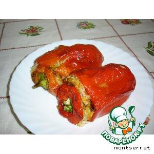 Перец, фаршированный рисом и овощами
