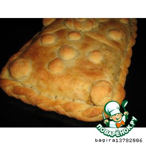 Пирог с печенью и гречневой кашей