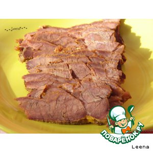 "Запеченное мясо ""Бутербродное"""