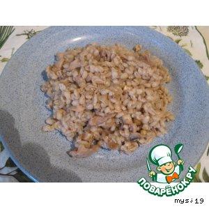 Перловая каша с грибами и курочкой