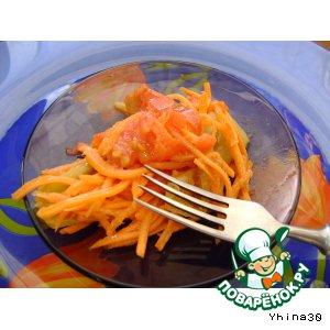 Салат из моркови и болгарского перца