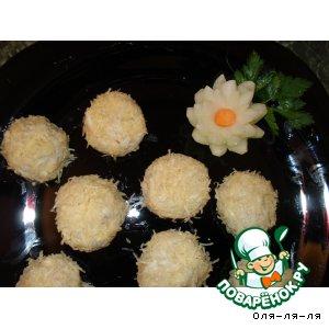 Сырные шарики с печенью трески