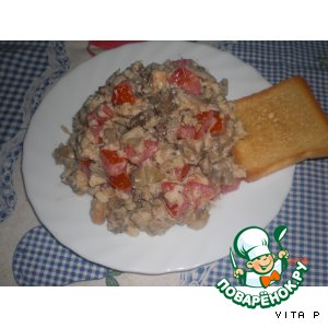 Салат из баклажанов с крекером