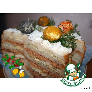 "Бутербродный торт ""Шарики"""