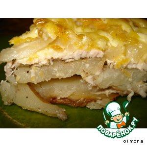 """Запеченный картофель под """"шубой"""""""