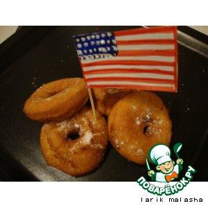 """Американские пончики """"Донатсы"""" без дрожжей"""