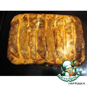 Блинчики-пирог с начинкой