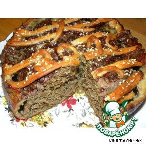 Зимний мясной пирог