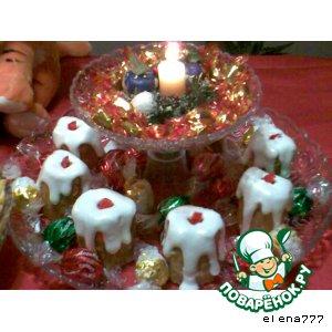 """Пирожные """"Новогодние свечи"""""""