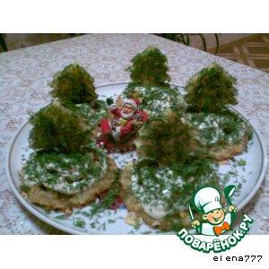 "Новогодняя закуска ""Елочки"""