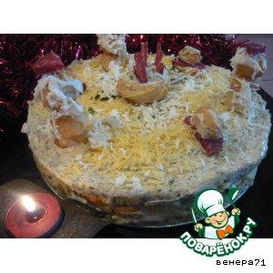 """Закусочный торт """"Пикник снеговиков"""""""