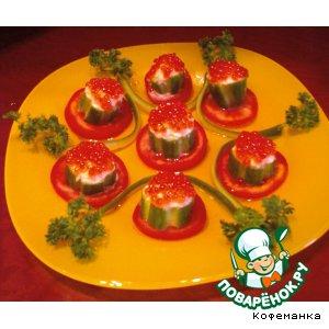 Импровизированные тарталетки с красной икрой
