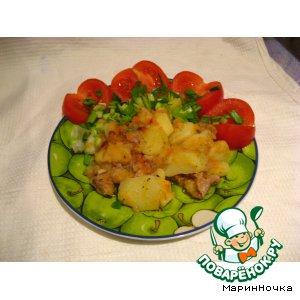 Тушеный кролик с картофелем