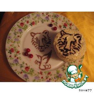 """Пирожное """"И тигр бывает нежным"""""""