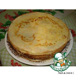 Торт из блинов с сыром
