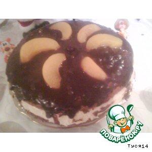 """Тортик """"Сливочное облако"""" с персиками"""
