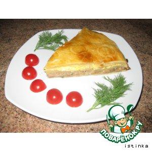 Пирог по-сербски с консервированной горбушей