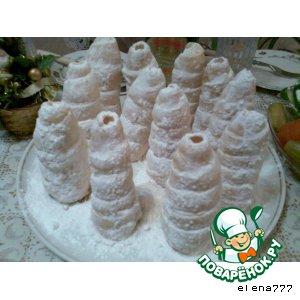 """Пирожные """"Елочки в снегу"""""""