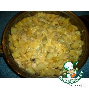 Омлет с картофелем