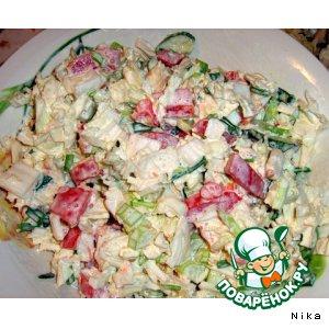 """Овощной салат """"Свежесть"""""""
