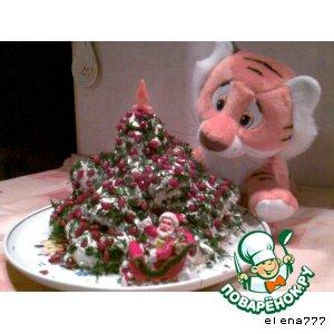 """Закусочный торт  """"Новогодняя красавица"""""""