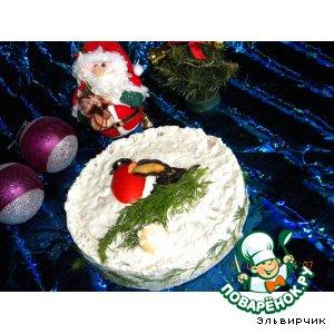 """Закусочный торт """"Снегирь"""""""