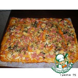 Тонкая домашняя пицца