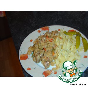 Мясо с овощами из духовки