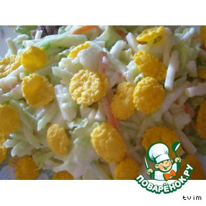 "Салат с кукурузными хлопьями ""Хрустик"""